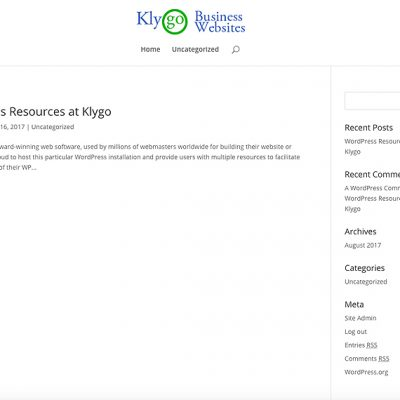 Business Starter Kit Website with drag and drop page builder