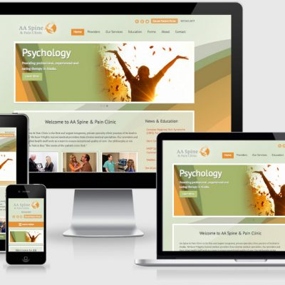 Website Design with single page website